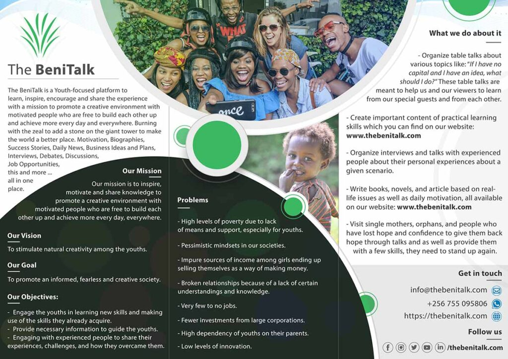 Brochure Design, Flyer Design - The BeniTalk