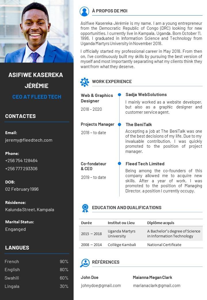 Free Editable PowerPoint CV Templates